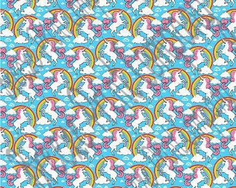 Unicorn and rainbow pattern printed craft  vinyl sheet - HTV or Adhesive Vinyl -   HTV5075