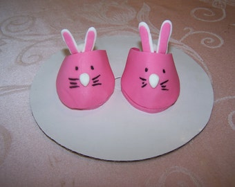 Baby's Bunny Slippers, Pair