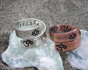 Yoga ring - hand stamped