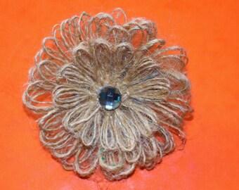 Wedding decor Rustic Flowers 5, Burlap Flowers,  Handmade Shabby Chic Flowers, Wedding Centerpieces, DIY Wedding