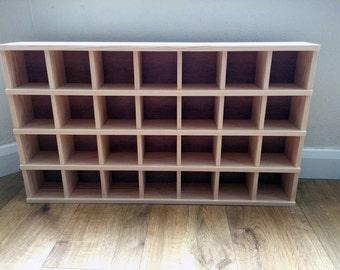 28 Compartment Pigeon Hole Shelf Unit