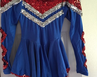 Vintage Majorette Dance Costume Girl Small