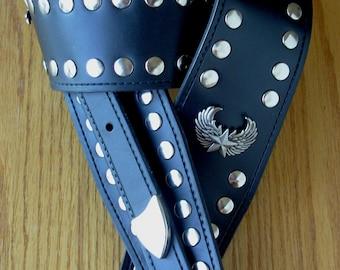 Texas Nighthawk Leather Guitar Strap