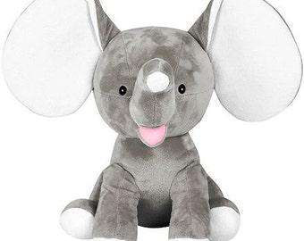 Personalized Stuffed Animal-Dumble Elephant-Grey