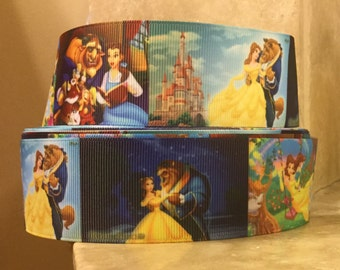 """5 YDS Beauty and the Beast Ribbon (1.5"""")"""