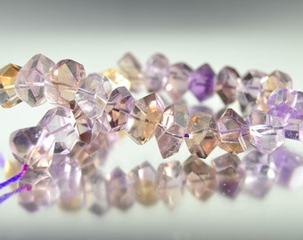 """Ametrine Faceted Nuggets 12-14MM, 8""""/24Pcs, So Gorgeous, Ametrine Beads, Bicolored Ametrine, Ametrine Tumbless, Gemstone Nuggets, Nugget"""