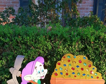 mining cart/snow white/ 7 dwarfs/party decoration/yard/ wall art
