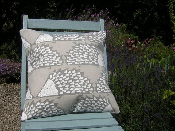 Harlequin Scion Fabric Cushion Cover - 'Spike'  Hedgehog Design - Mink