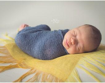 Newborn layer blanket / photography props newborn baby /  posing mini blanket /  linen basket filler / photo props textured fabric