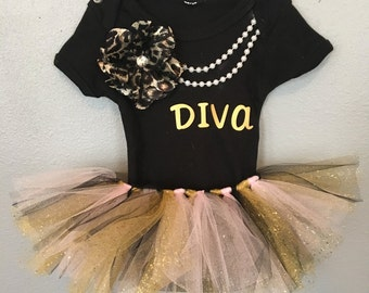 Baby Girl Diva Outfit