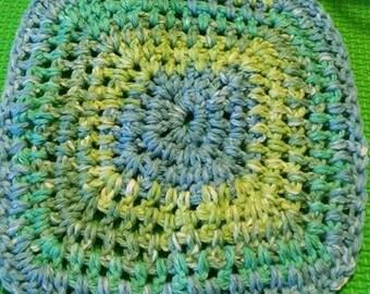 Seaside Stripes Handmade Crochet Washcloth