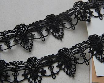 NEW!! Black Lace Trim Venice Lace Trim Antique Lace Trim for Jewelry Lace Necklace Design