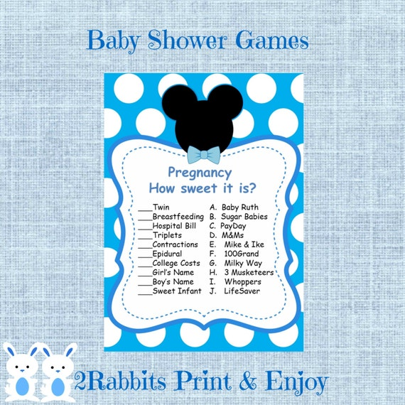 Sweet Sweet Baby Baby Shower Game: Mickey Mouse Boy Baby Shower Pregnancy How Sweet It Is Mickey