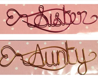 Personalised Bookmarks/ Custom Bookmarks/ Name Bookmarks/ Personalised Wire Bookmarks - Unquie Wedding favour