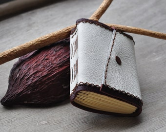 Pocket handmade leather travel journal