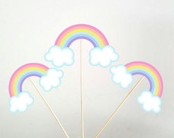 Rainbow Centerpieces, Pastel Rainbow Centerpieces, Pastel Rainbows