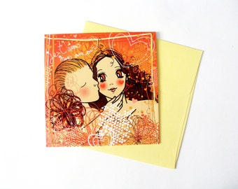 Greeting card for lover : I love you my love !