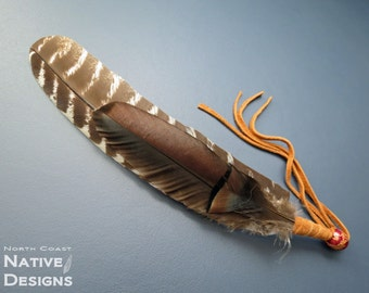 Smudge Feather Fan