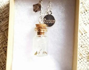 Dandelion seed necklace... real Dandelion seeds