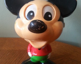 1976 Talking Mickey Mouse with Pull string and wobbly head