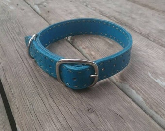 Handmade leather dog collar for large dogs custom colors and name