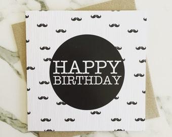Birthday Card {Moustache}