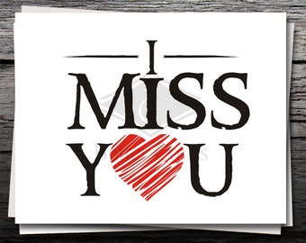 I Miss You Sign, Card, Shirt Decal, Cricut file, Silhouette file