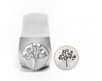 Tree of Life Metal Stamp, ImpressArt 6mm, Stamping Tool for Stamped Jewelry, Celtic Tree, Tree of Knowledge Stamp, Steel Stamp