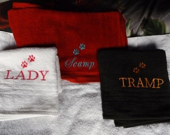 Personalised PET TOWELS / Stunning choice of colours / various sizes
