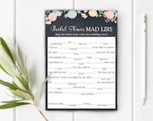 Bridal Shower Mad Libs, Bachelorette Mad Libs, Help The Bride Write Her Wedding Vows, Item 708