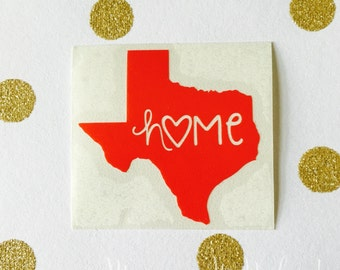 Any State Home Decal // State Sticker // Car Decal // Car Sticker // Laptop Sticker // State Decal