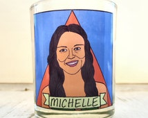 Michelle Rodriguez Glass Votive Candle // Gay Altar Candle