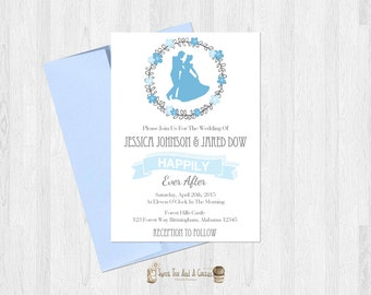 cinderella wedding | etsy, Wedding invitations