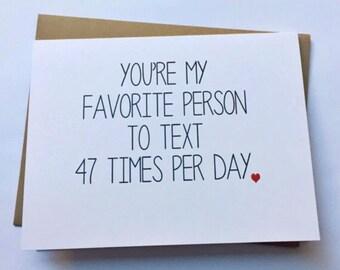 Funny Love Card - Boyfriend Card - Love Card - Friend Card - Anniversary Card