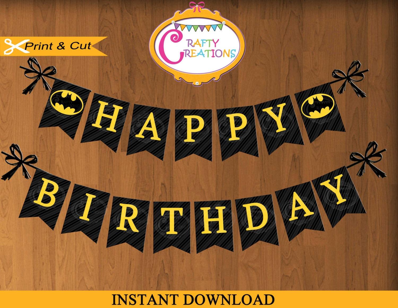 Batman Banner Printable Batman Birthday Party Banner Batman