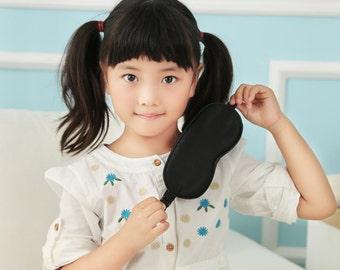New Arrive small size  1pc children silk eyewear sleep eye mask travel rest mask sleeping mask for kids gift