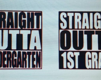 Straight outta (grade) back to school shirt
