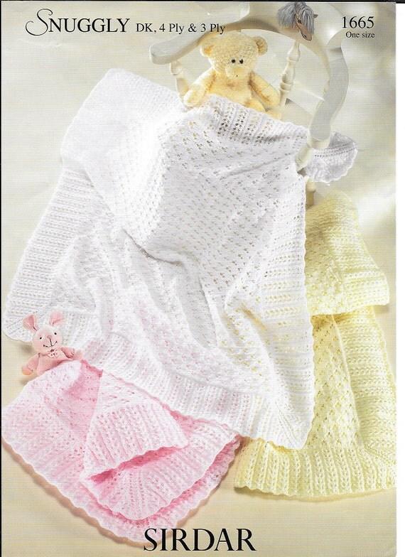 Knitting Patterns For Baby Blankets Sirdar : Pdf knitting pattern baby child blankets sirdar snuggly dk