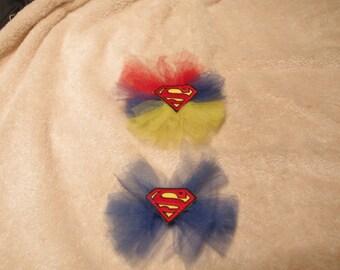 Superman Tulle Hair Bow