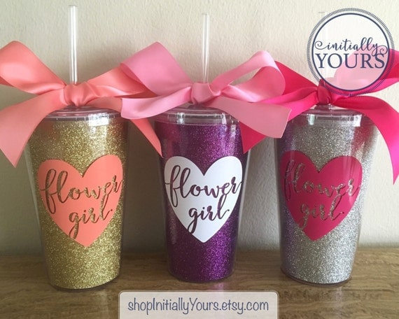 Personalized Flower Girl Cup Flower Girl Gift Idea Custom