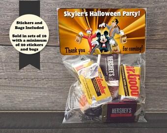 Mickey Halloween Party Favors, Halloween Favor Bags, Halloween Party Bags, Mickey Favor Bags, Mickey Party Bags, Mickey Party Favors