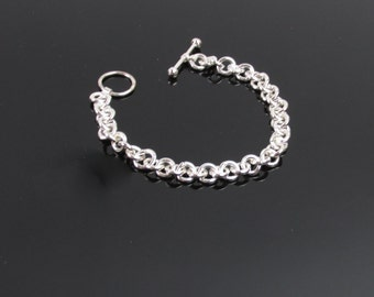 Classic Sterling Hand-Fabricated Bracelet