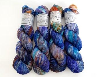 Sock Yarn Superwash Merino/Nylon 4ply Handdyed Yarn: METROPOLIS