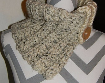 Crochet Finished Woman's cowl Neck Warmer