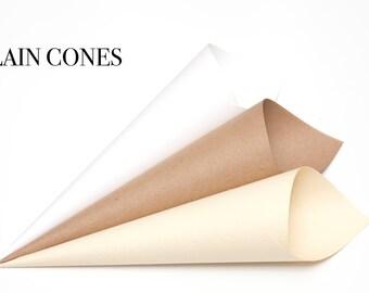 Plain Confetti cones Pack of 5
