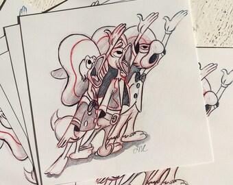 "Three Caballeros 4x4"" Fine Art Quality Print."