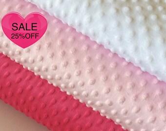 140cm x 50cm Dimple Baby Cuddle, Minky Fabric