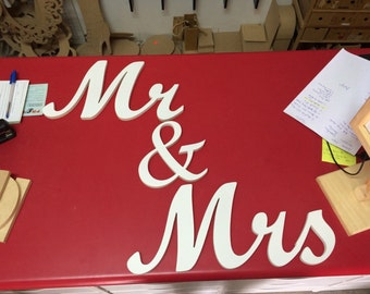 Mr and Mrs wood sign, wedding sign, bride and groom, sweetheart table