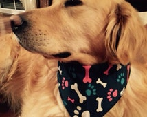 Dog Scarf, Scarf For Dogs, Bone Print Scarf, Dog Scarves, Dog Accessory, Dog Bandana, Dog Scarves, Accessory for Dogs, Pet Accessory, Dogs