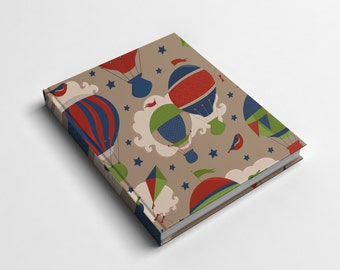 Journal or Spiral Notebook | Kites & Balloons Hard Cover Journal or Wire Bound Notebook | Back to School Notebook | Spiral Notebook for Kids